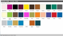 Bal Togs Nylon/Lycra Color Chart