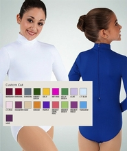 ProWear Long Sleeve Mock Neck Leotard with Snap Crotch: CustomColor  (BWP CC 201/001)