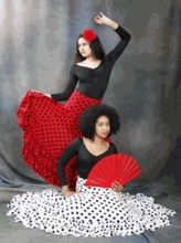 IN STOCK Flamenco Skirt: Polka Dot (BT 9100 PD IN)