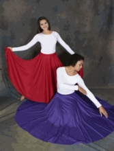 IN STOCK SPECIAL PRICE -  POLYESTER LONG SKIRT BY BODYWRAPPERS (BW 501/0501)