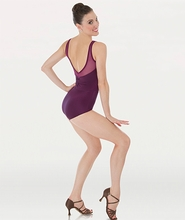 Power Mesh Yokes Leotard (BW P 1001)