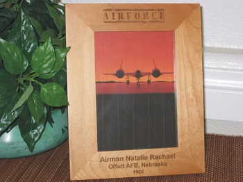 Air Force Picture Frame - Personalized Frame - Laser Engraved AIR FORCE