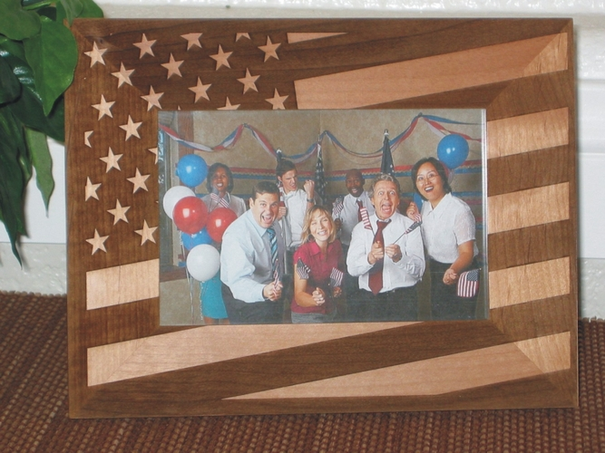 American Flag Picture Frame - Limited Sale - Laser Engraved American Flag