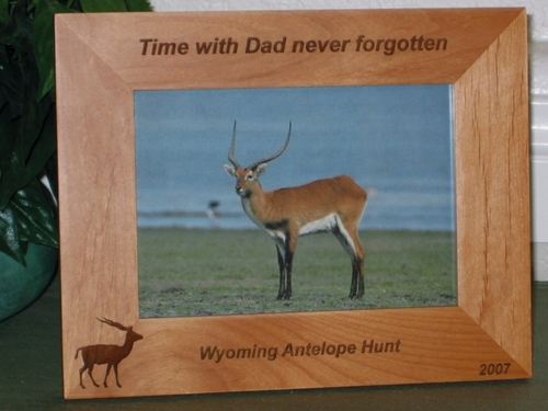 Antelope Picture Frame - Personalized Frame - Laser Engraved Antelope