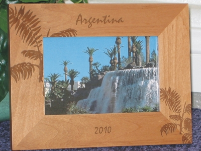 Argentina Picture Frame - Personalized Frame - Las Engraved Palm Leaves