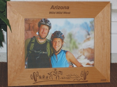 Arizona Picture Frame - Personalized Souvenir Frame - Laser Engraved Western Theme