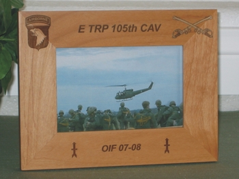 Army  Airborne Picture Frame - Personalized Frame - Laser Engraved Army Logos