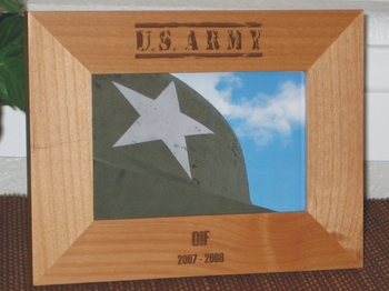 Army Picture Frame - Personalized Army Frame - Laser Engraved ARMY