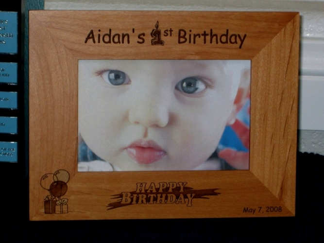 Baby's First Birthday Picture Frame - Personalized Frame - Laser Engraved 1st Birthday