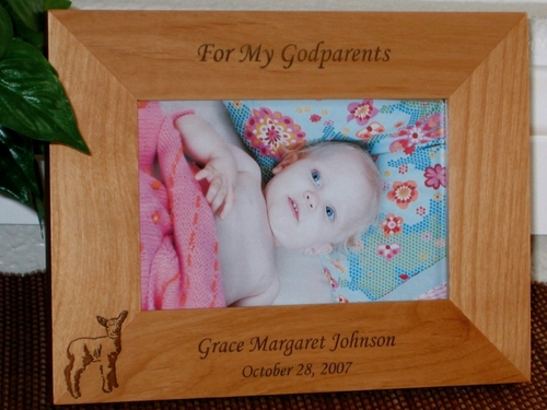 Baby Sheep Picture Frame - Personalized Frame - Laser Engraved Sheep