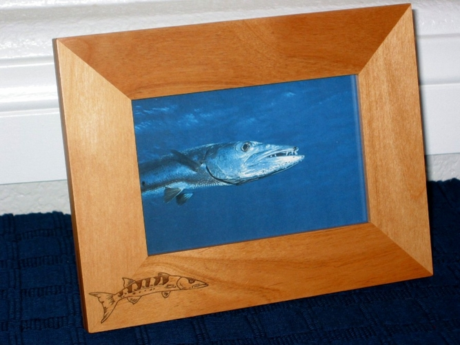 Barracuda Fish Picture Fish - Personalized Frame - Laser Engraved Barracuda