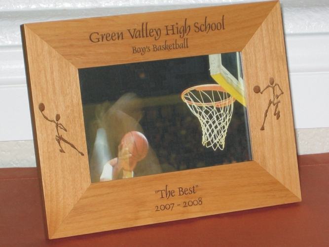 Basketball Picture Frame - Personalized Frame - Laser Engraved Basketball Players