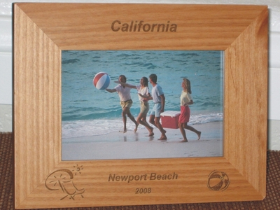 Beach Picture Frame - Personalized Frame - Laser Engraved Beach Theme