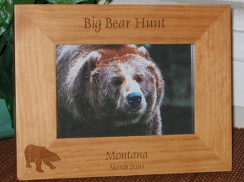 Bear Hunting Picture Frame - Personalized Frame - Laser Engraved Bear