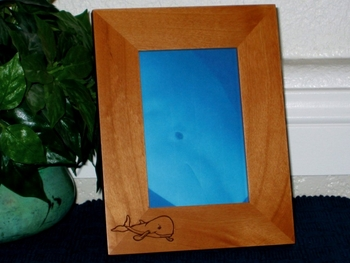 Beluga Whale Picture Frame - Personalized Frame - Laser Engraved Beluga Whale
