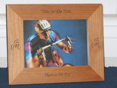 Bicycle Picture Frame - Personalized Frame - Laser Engraved Cycles