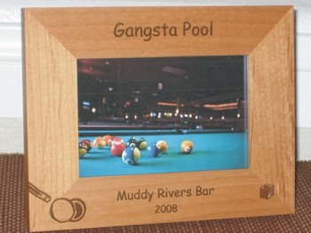 Billiards Picture Frame - Personalized Pool Frame - Laser Engraved Billiards/Pool Table