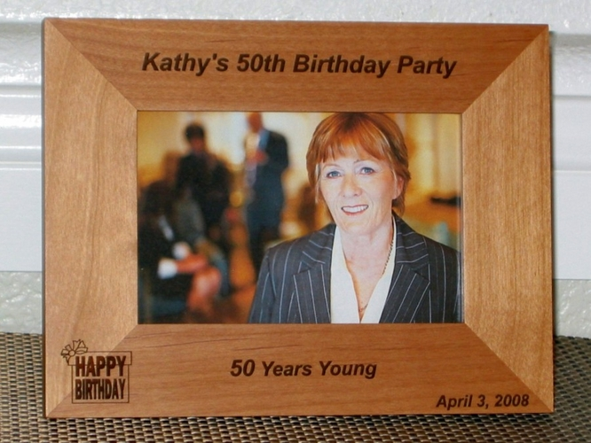 Birthday Picture Frame - Personalized Frame - Laser Engraved Birthday-40th-50th-60th