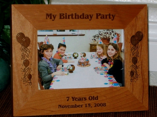 Birthday Picture Frame - Personalized Frame - Laser Engraved Birthday Balloons