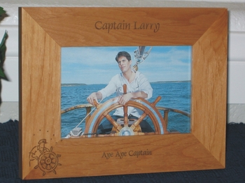 Boat Captain Picture Frame - Personalized Frame - Laser Engraved Captain of Boat