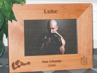 Boxing Picture Frame - Personalized Frame - Laser Engraved Boxer