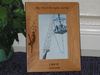 Bungee Picture Frame - Personalized Frame - Laser Engraved Bungee Jump