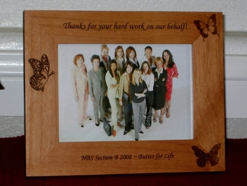 Butterfly Picture Frame - Personalized Frame - Laser Engraved Butterflys
