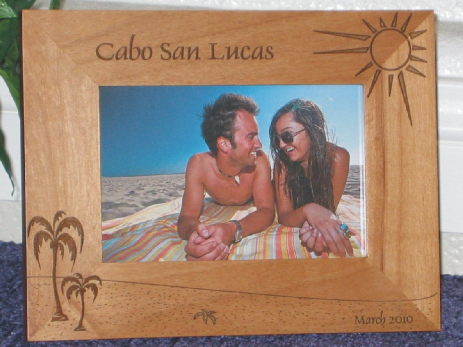 cabo san lucas picture frame personalized frame laser engraved cabo beach theme