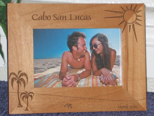 Cabo San Lucas Picture Frame - Personalized Frame - Laser Engraved Cabo Beach Theme