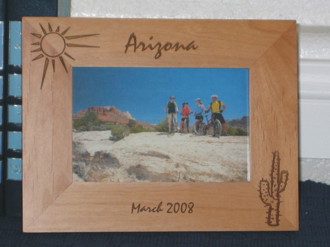Cactus Theme Picture Frame - Personalized Frame - Laser Engraved Cactus Theme