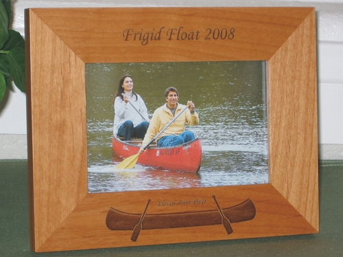 Canoe Picture Frame - Personalized Frame - Laser Engraving Canoe