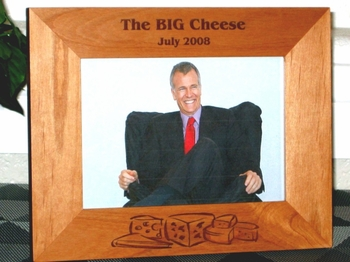 Cheese Picture Frame - Personalized Frame - Laser Engraved Cheese Theme