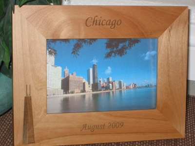 Chicago Picture Frame - Personalized Frame - Laser Engraved Hancock Building