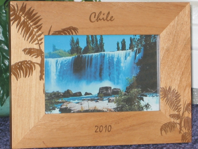 Chile Picture Frame - Personalized Frame - Las Engraved Palm Leaves