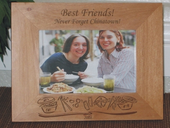 Chinese Picture Frame - Personalized Frame - Laser Engraved Chinese Take Out Theme