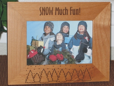 Christmas Trees Picture Frame - Personalized Frame - Laser Engraved Christmas Trees Theme