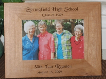 Class Reunion Picture Frame - Personalized Frame - Laser Engraved Souvenir