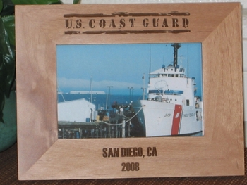 Coast Guard Picture Frame - Personalized Frame - Laser Engraved US COAST GUARD