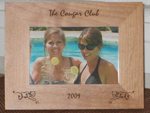 Cougar Picture Frame - Personalized Frame - Laser Engraved Cougars