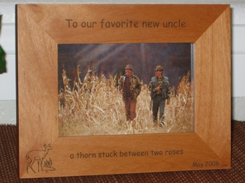 deer picture frame personalized hunting frame laser engraved doe pines