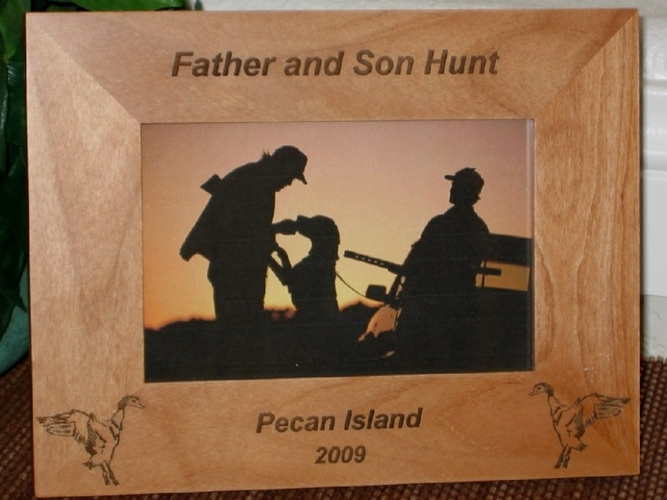 Duck Hunting Picture Frame - Personalized Frame - Laser Engraved Ducks