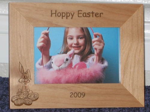 Easter Picture Frame - Personalized Frame - Laser Engraved Easter Eggs