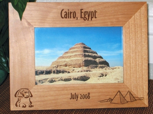 Egypt Picture Frames - Personalized Souvenir Frame - Laser Engraved Sphinx