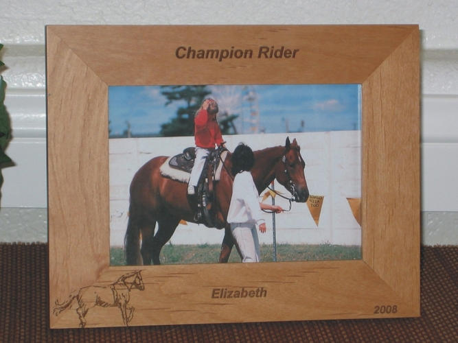 Equestrian Picture Frame - Personalized Frame - Laser Engraved Horse