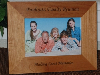Family Reunion Picture Frame - Personalized Souvenir Frame - Laser Engraved Family Gift