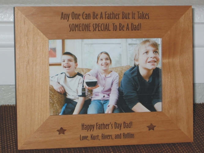 Fathers Day Picture Frame - Personalized Frame - Laser Engraved
