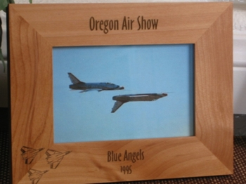 Fighter Jets Picture Frame - Personalized Frame - Laser Engraved Fighter Jets