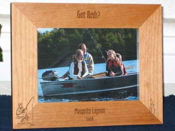 Fishing Picture Frame - Personalized Fish Frame - Laser Engraved Fish