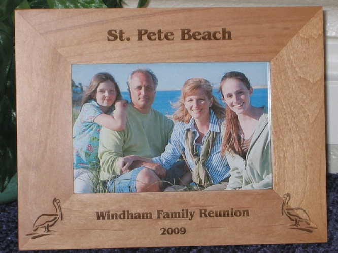 Florida Pelican Picture Frame - Personalized Frame - Laser Engraved Pelicans
