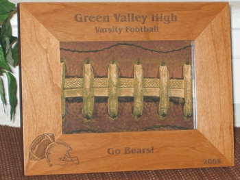 Football Picture Frame - Personalized Frame - Laser Engraved Football - Helmet